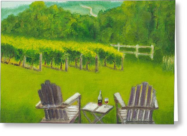 Vineyards Of Sogn Valley Greeting Card by Susan Fuglem
