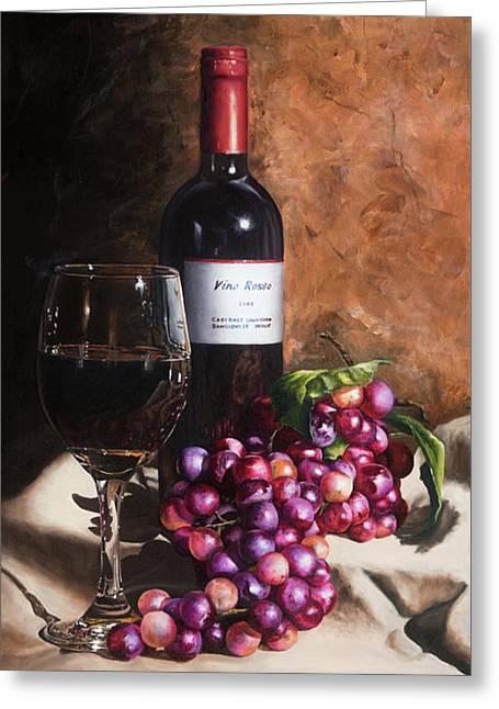 Vino Rosso Greeting Card by Michael Malta