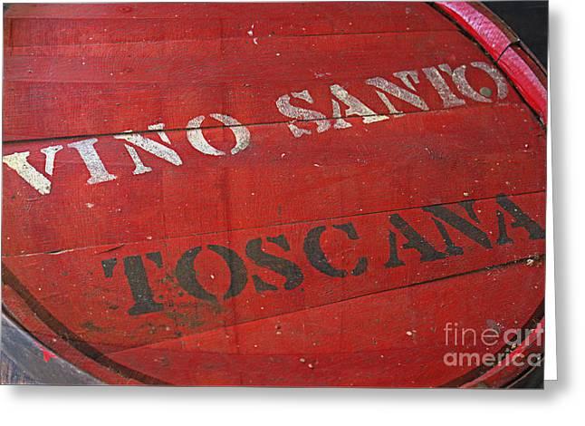 Vino Santo Toscana Greeting Card