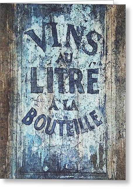 Vins Au Litre Greeting Card