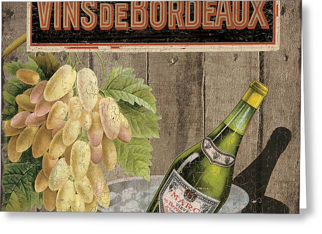 Vins Debordeaux Greeting Card