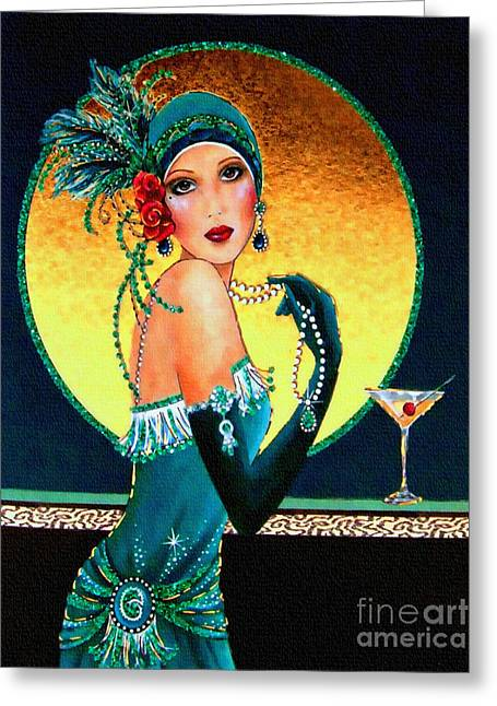 Vintage 1920s Fashion Girl  Greeting Card