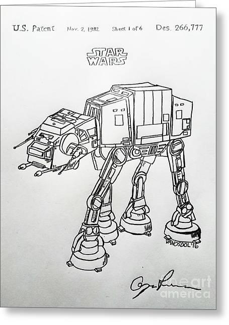 Vintage 1982 Patent At-at Star Wars - Original Greeting Card