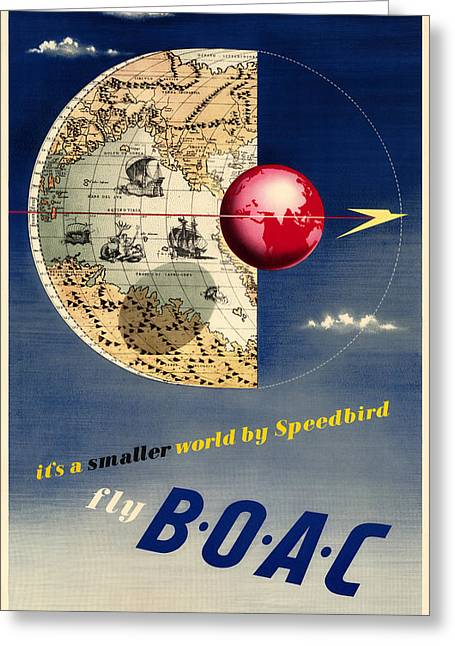 Vintage Airline Ad 1945 Greeting Card by Andrew Fare