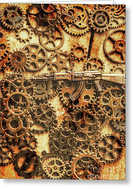 Vintage Ak-47 Artwork Greeting Card by Jorgo Photography - Wall Art Gallery