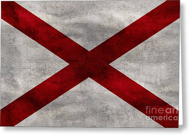Vintage Alabama Flag Greeting Card