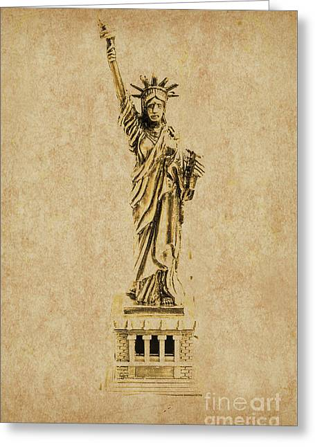 Vintage America Greeting Card by Jorgo Photography - Wall Art Gallery