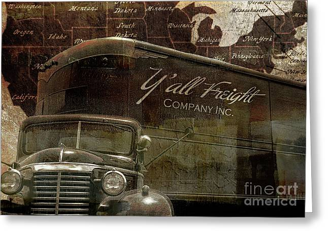 Vintage American Freight Trucking Greeting Card