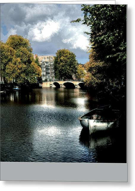 Greeting Card featuring the photograph Vintage Amsterdam by Jim Hill