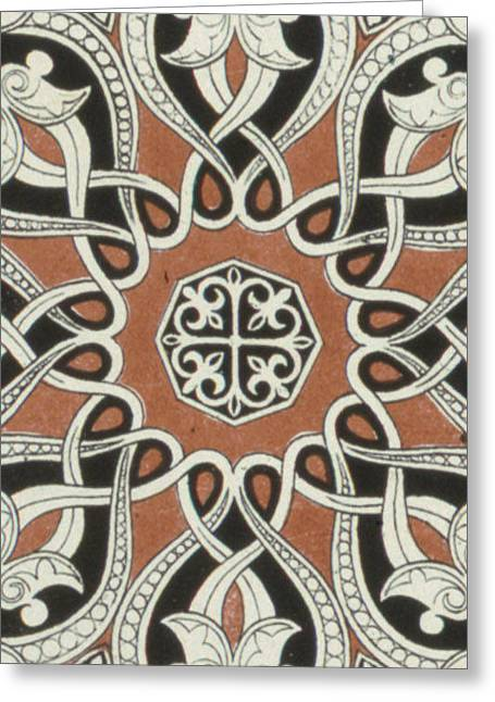Vintage Arabian Textile Pattern Design Greeting Card
