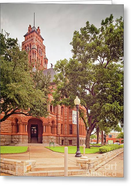 Vintage Architectural Image Of The Ellis County Courthouse - Waxahachie North Texas Greeting Card by Silvio Ligutti