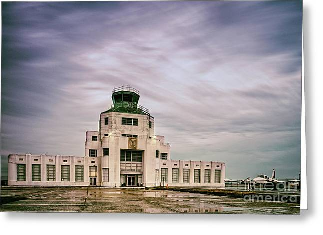 Vintage Architectural Photograph Of The 1940 Air Terminual Museum - Hobby Airport Houston Texas Greeting Card
