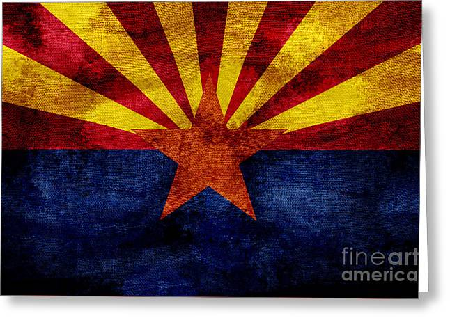 Vintage Arizona Flag Greeting Card