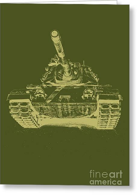 Vintage Army Tank Greeting Card