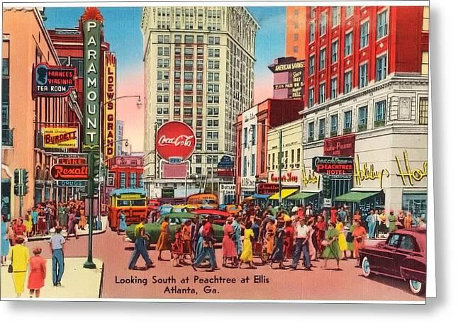 Vintage Atlanta Postcard Greeting Card