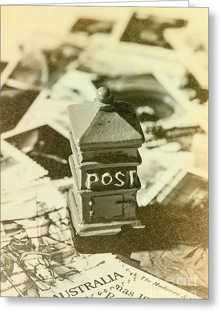 Vintage Australian Postage Art Greeting Card by Jorgo Photography - Wall Art Gallery