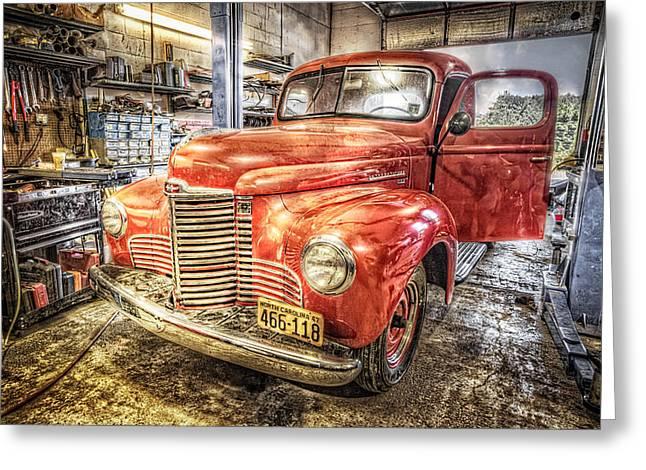 Vintage Auto Service Garage Greeting Card