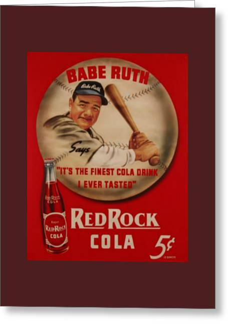Vintage Babe Ruth Commercial Art Greeting Card by Pd