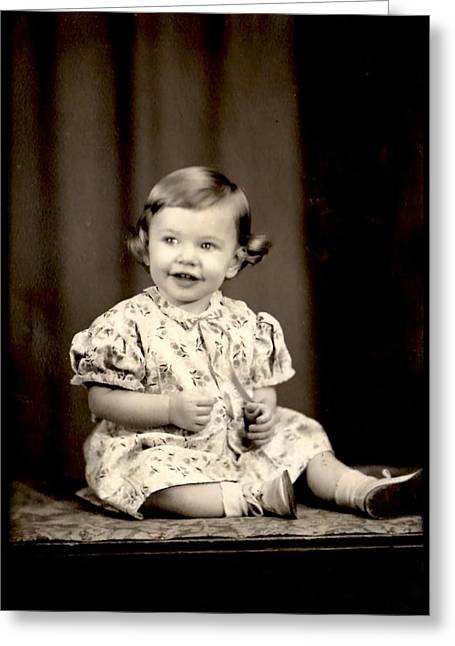 Vintage Baby Photograph Greeting Card by Kyle J West