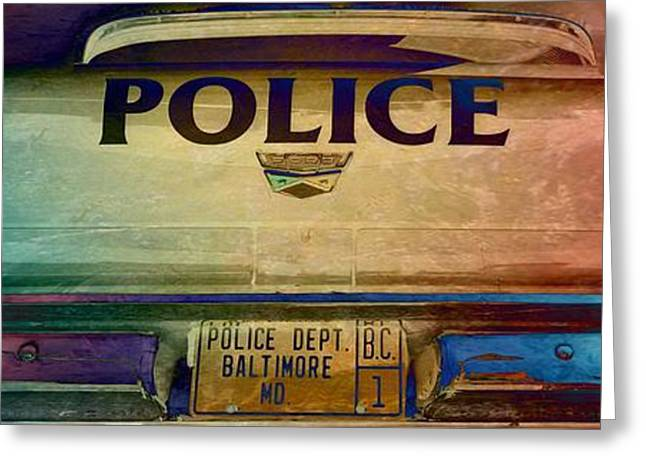 Vintage Baltimore Police Department Car Greeting Card