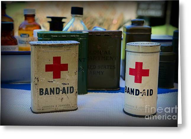 Vintage Band-aid Tins Greeting Card