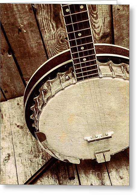 Vintage Banjo Barn Dance Greeting Card by Jorgo Photography - Wall Art Gallery