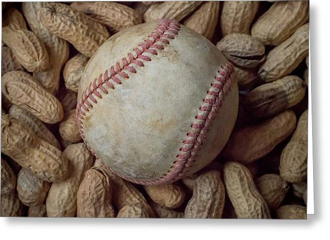 Vintage Baseball And Peanuts Square Greeting Card