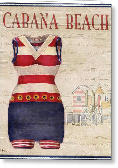 Vintage Bathing Suits I Greeting Card by Paul Brent