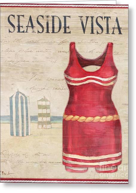 Vintage Bathing Suits II Greeting Card by Paul Brent