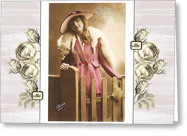Vintage Beauty Greeting Card
