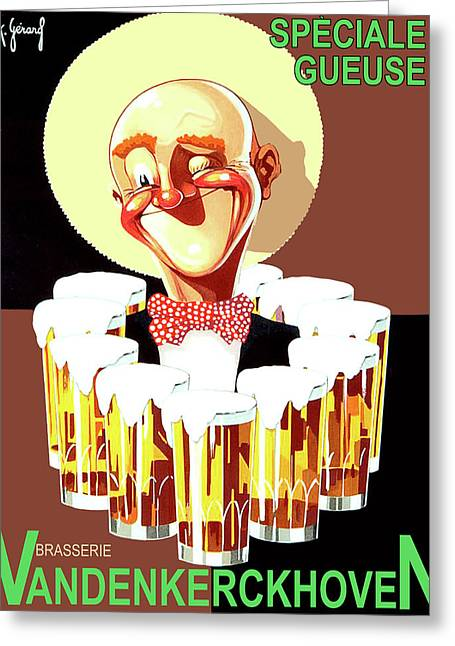 Vintage Beer Advertisement Greeting Card by Long Shot