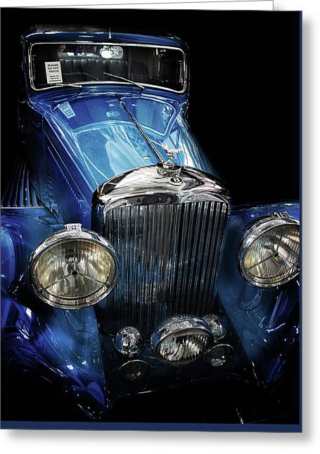 Vintage Bentley Greeting Card by Martin Newman