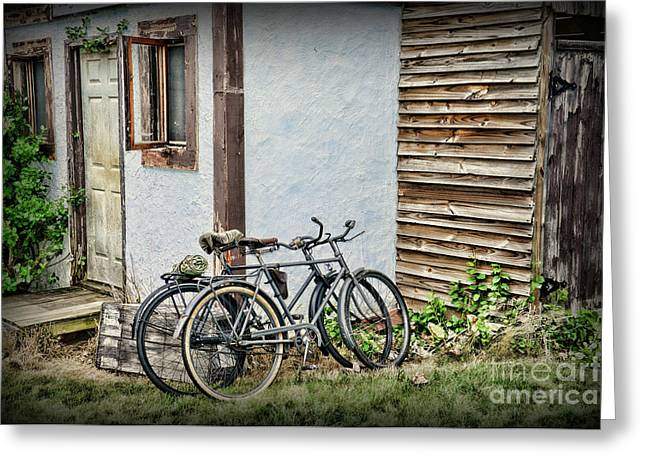 Vintage Bicycles The Journey Greeting Card by Paul Ward
