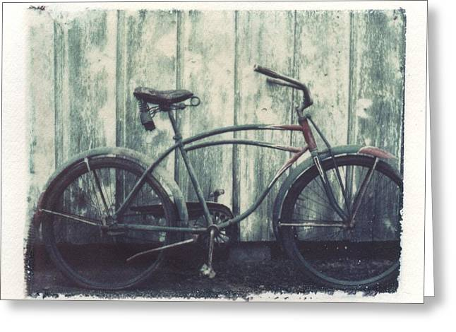Vintage Bike Polaroid Transfer Greeting Card