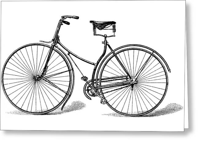 Greeting Card featuring the digital art Vintage Bike by ReInVintaged