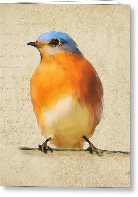 Vintage Bluebird Greeting Card