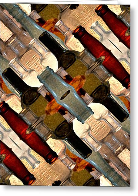 Vintage Bottles Abstract Greeting Card
