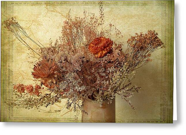 Greeting Card featuring the photograph Vintage Bouquet by Jessica Jenney