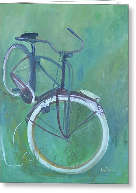 Vintage Brown Bike Greeting Card