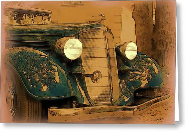 Vintage Buick Greeting Card