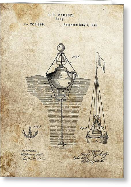 Vintage Buoy Patent Greeting Card