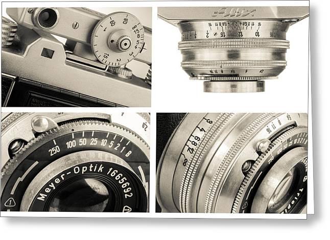Vintage Camera - Collage Greeting Card