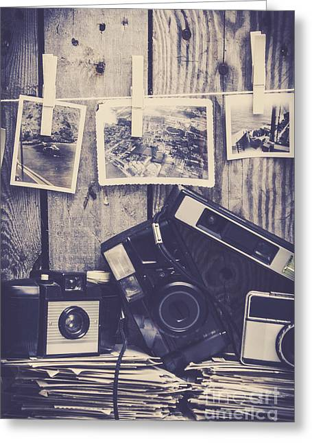 Vintage Camera Gallery Greeting Card
