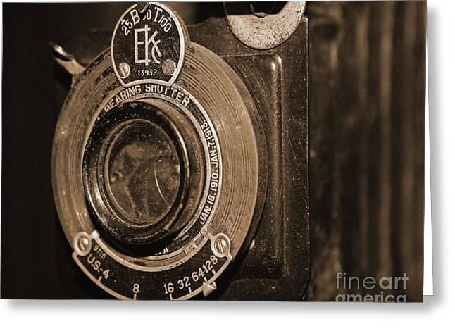Vintage Camera Lens Greeting Card