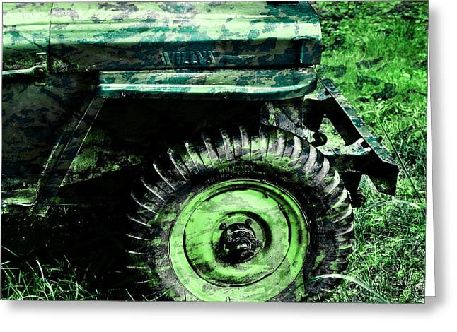 Vintage Camo Willys Greeting Card by Luke Moore