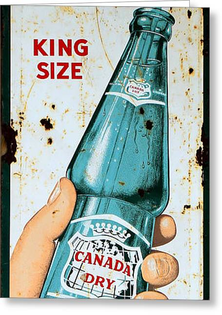Vintage Canada Dry Sign Greeting Card by Andrew Fare