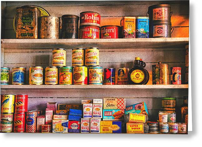 Vintage Canned Goods Greeting Card by Anna Louise