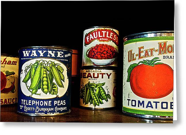 Vintage Canned Vegetables Greeting Card
