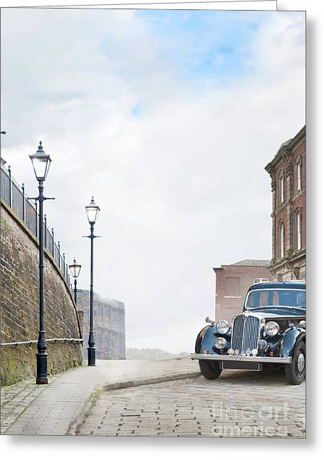 Greeting Card featuring the photograph Vintage Car Parked On The Street by Lee Avison