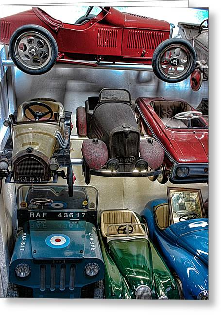 Vintage Cars Greeting Card by Martin Newman